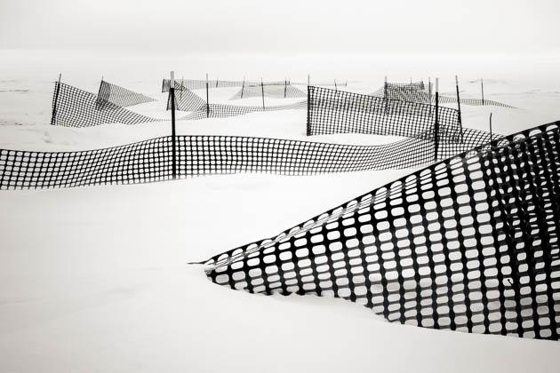 Snow Fences on the Beach, 2014