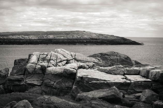 Rocks and Island, Reid State Park, 2014