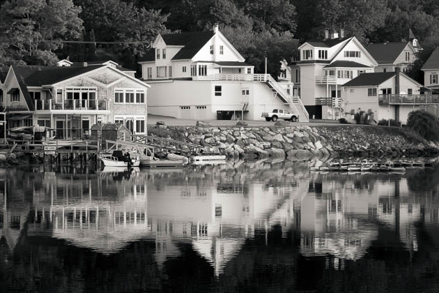 Morning View From The Footbridge, Boothbay Harbor, 2014