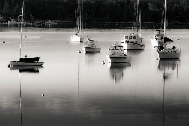 Morning Boats, Boothbay Harbor, 2014